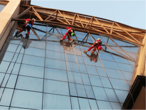 Outdoor window and glass cleaning services